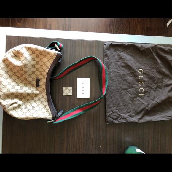 aae634f56fd Gucci Handbags - Auth GUCCI GG Shelly Line Cross Body Shoulder Bag